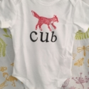 Fox Cub Baby Grow Sample