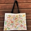 Earthy Autumn Block Printed Canvas Bag