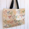 Chicken Block Printed Canvas Shopping Bag