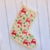 Hand Block Printed Christmas Stocking