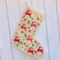 Hand Block Printed Christmas Stocking