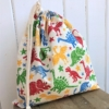 Dinosaur Block Printed Drawstring Bag