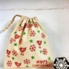 Block Printed Christmas Gift Bag