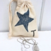 Hand Printed Star Gift Bag