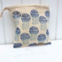 Jellyfish Block Printed Bag
