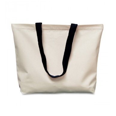 Natural Canvas Shopping Bag