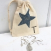 Extra Small Personalised Fabric Drawstring Bag
