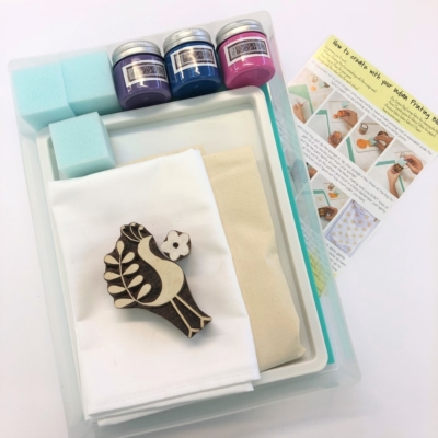 Complete Block Printing Kit - Funky Bird and Flower