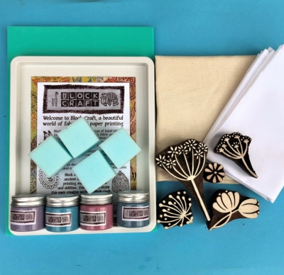 Complete Indian Block Printing Kit- Seed Heads