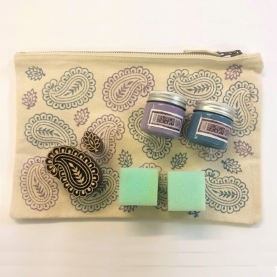 Block Printing Kit- Paisley Pouch