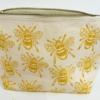 Block Printed Bee Wash Bag