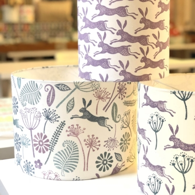 Block Printing Lampshade Workshop