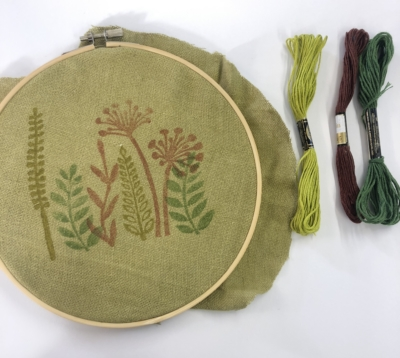 Block Printing for Embroidery Workshop
