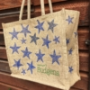 Upcycled Hessian Bag with Indian Printing Blocks