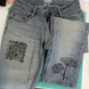 Upcycling, Block Printed Jeans