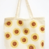 3 Part Sunflower Block Printed Maxi Bag in Mustard, Terracotta and Brown