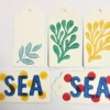 Sea Life/ Seaside Indian Block Printed Gift Tags