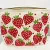 Medium Wash Bag print in a Red Strawberry design