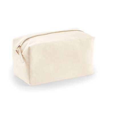 Brushed Cotton Canvas Makeup Bag
