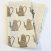 Block Printed Coffee Pot Napkin