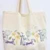 Hare and Seed Head Maxi Bag printed in Midnight, Violet, Indian Yellow and Indian Aqua