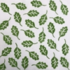 Indian Block Printing- Small Acorn Leaf Fabric Print Sample