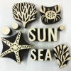 Sea Life and Nautical Indian Printing Blocks