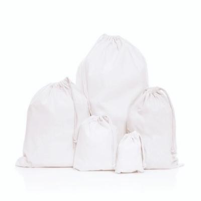 Organic Cotton Weave Drawstring Bag
