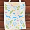 Organic Cotton Tote Bag- Hares & Cow Parsley