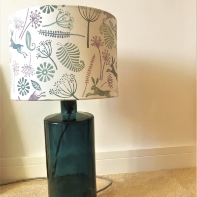 Indian Block Printed Lampshade Seed Head Design