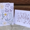 Hand Block Printed Botanical Cards