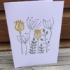 Indian Block Printed Card in Poppy Tile Design