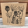 Block Printed Card in Poppy Seed Head Tile design