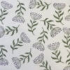 Indian Block Printing, Botanical Seed Head Design