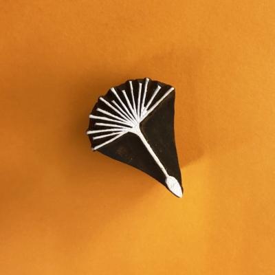 Indian Wooden Printing Block- Dandelion Seed