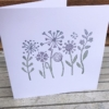 Block Printed Card- Flower Garden Tile