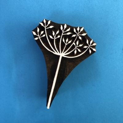 Indian Wooden Printing Block- Simple Cow Parsley