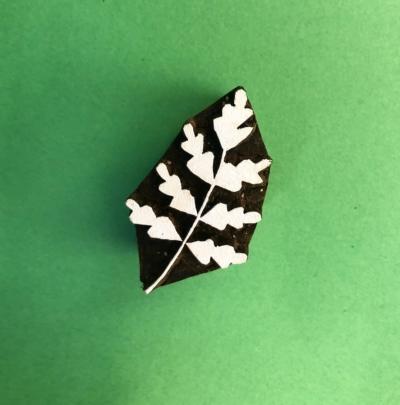 Indian Wooden Printing Block- Hawthorn Leaf