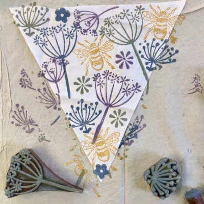 Summer Bunting Block Printing Workshop