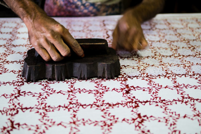 Traditional Indian Block Printing Workshop Oxfordshire