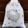 Beautiful Block Printing Organic Drawstring Bag