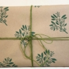 Block Printed Wrapping- Botanical Berries