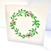 Christmas Wreath Indian Printing Block