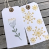 Botanical Block Printed Gift Tags
