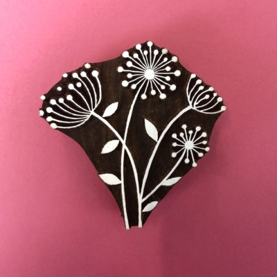 Indian Wooden Printing Block- Seed Head Bunch