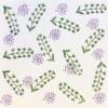 Indian Block Printed Fabric- Botanical Design