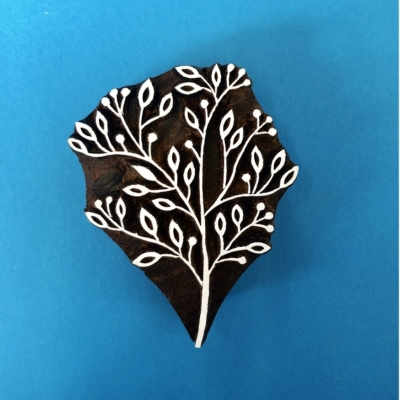 Indian Wooden Printing Block- Berries and Leaves