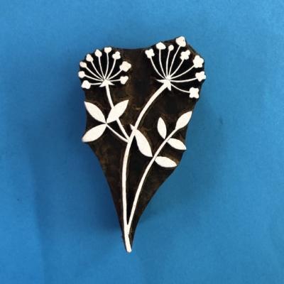 Indian Wooden Printing Block- Botanical Floral Design