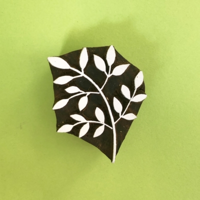 Indian Wooden Printing Block- Leaf Bunch