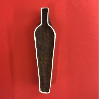 Indian Wooden Printing Block- Vase Outline